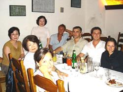 バスティアニーニの孫ご一家と会食