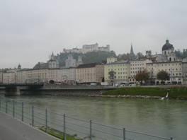ザルツァッハ川とホーエンザルツブルク城