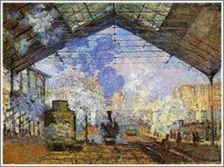 モネの絵画「サン・ラザール駅